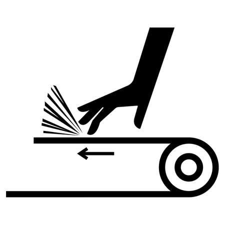 Hand Abrasion Belt Drive Symbol Sign 向量圖像