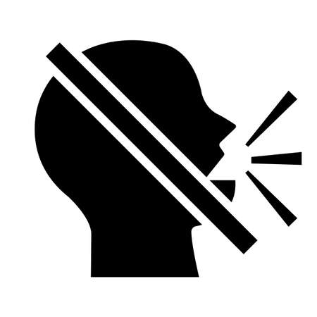 Keep Silence Symbol On White Background 向量圖像