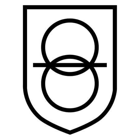 Safety Isolating Transformer Symbol Sign
