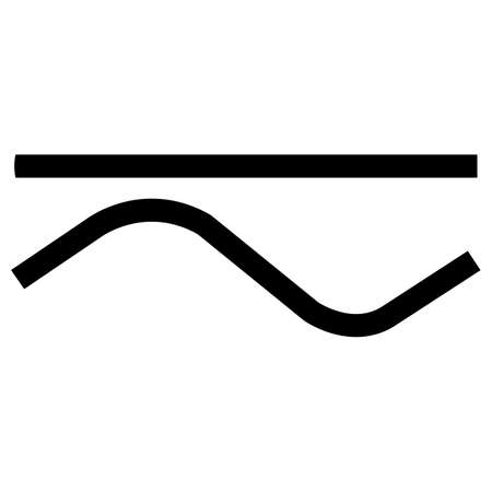 Both Direct And Alternating Current Symbol 向量圖像