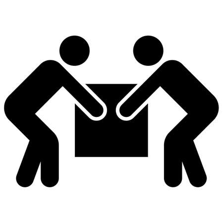 Two person lift Symbol Sign Isolate on white Background