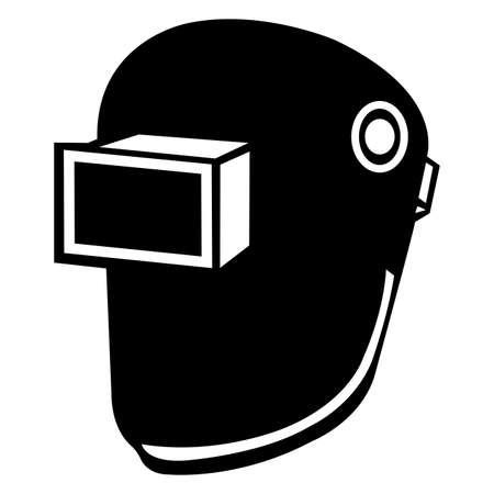 Symbol Wear Welding Helmet Isolate On White Background 向量圖像