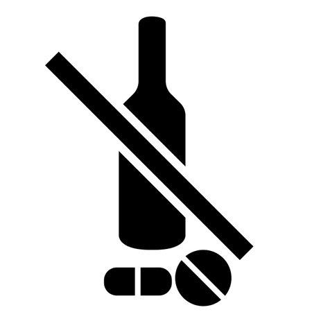 Prohibited Drug Symbol Sign