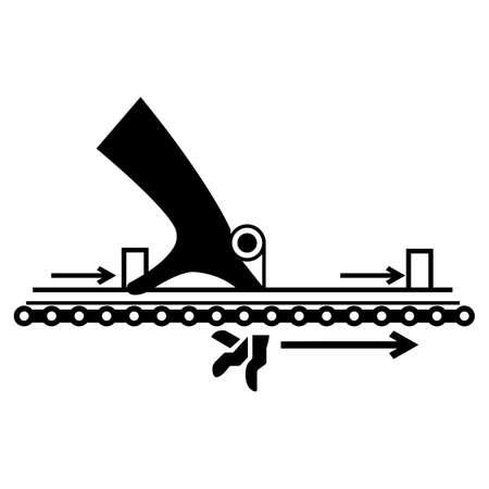Warning Moving Part Cause Injury Symbol 向量圖像