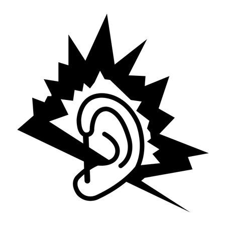 Noise Symbol Sign Isolate On White Background