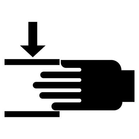 Crush hazard Mind your hands Sign 向量圖像
