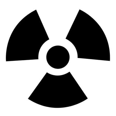 Radiation Hazard Symbol Sign Isolate On White Background,Vector Illustration EPS.10 向量圖像