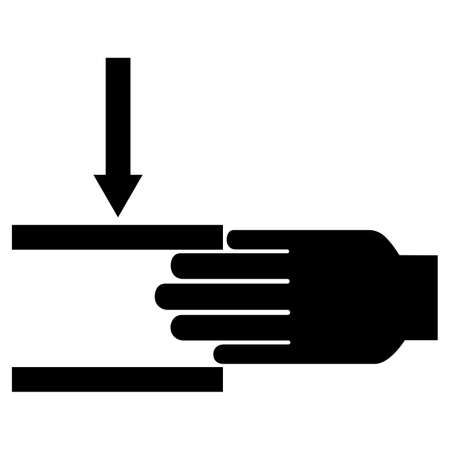 Hand Crush Force From Above Symbol Sign on White Background 向量圖像