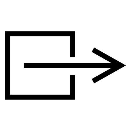 Output Exit Non-Electrical Symbol Sign, Vector Illustration, Isolate On White Background Label. EPS10