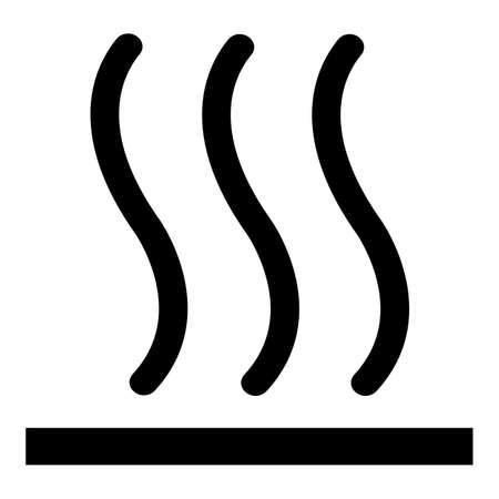Beware Hot Symbol Sign Isolate On White Background,Vector Illustration EPS.10 向量圖像