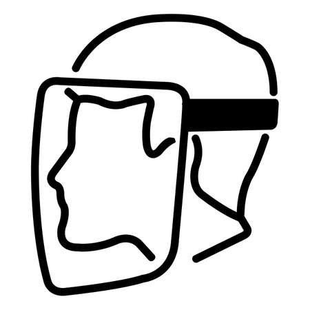 Symbol Face Shield Must Be Worn sign Isolate On White Background,Vector Illustration EPS.10 向量圖像