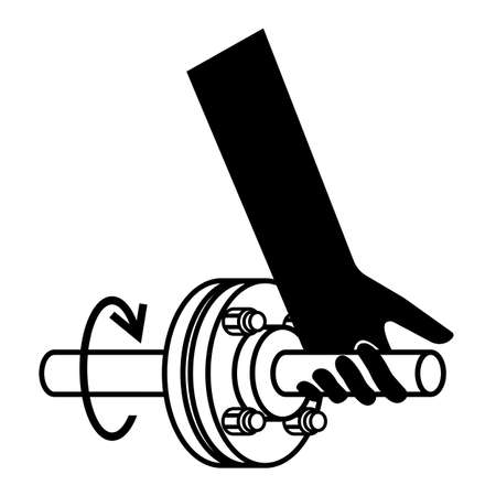 Entanglement Of Hand Rotating Shaft Symbol Sign Isolate On White Background,Vector Illustration EPS.10