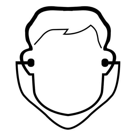 Symbol Wear Ear Plug Sign Isolate On White Background,Vector Illustration