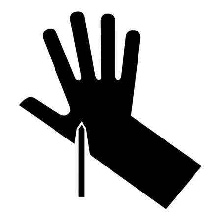 Sharp Point Symbol Sign, Vector Illustration, Isolate On White Background Label 向量圖像