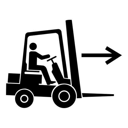 Forklift Point Right Symbol Sign Isolate On White Background,Vector Illustration EPS.10 Vettoriali