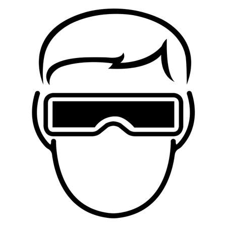 Symbol wear goggles Sign Isolate On White Background,Vector Illustration EPS.10