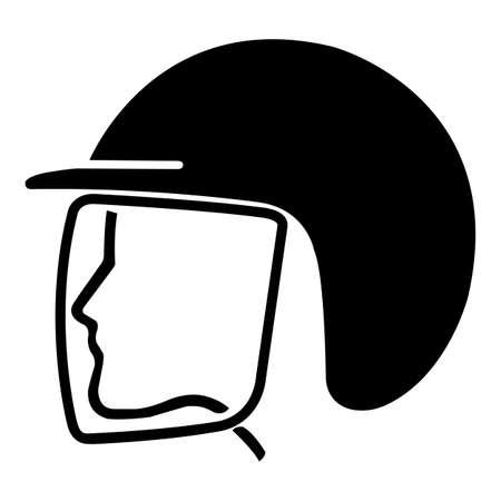 Wear Safety Helmet Symbol Isolate On White Background,Vector Illustration EPS.10 向量圖像