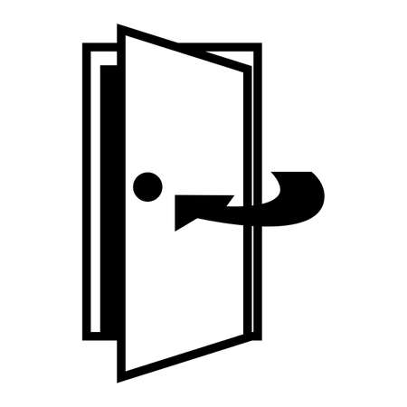 Keep Door Closed Symbol Sign Isolate On White Background,Vector Illustration EPS.10