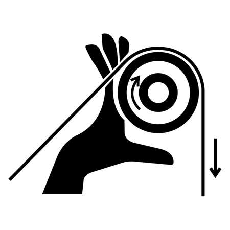 Hand Entanglement Rollers Symbol Sign, Vector Illustration, Isolate On White Background Label .EPS10 向量圖像