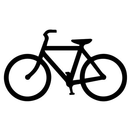 Bicycle Traffic Warning Sign isolated on white background.Vector illustration