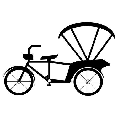 Beware Tricycle Symbol Sign Isolate On White Background,Vector Illustration EPS.10 向量圖像