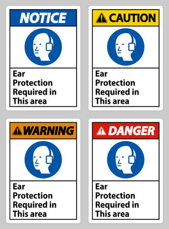 Ear Protection Required In This Area Symbol Sign