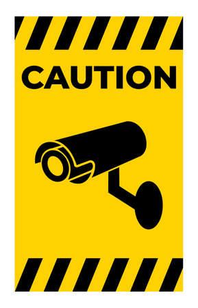 Video surveillance icon.CCTV camera. Illusztráció