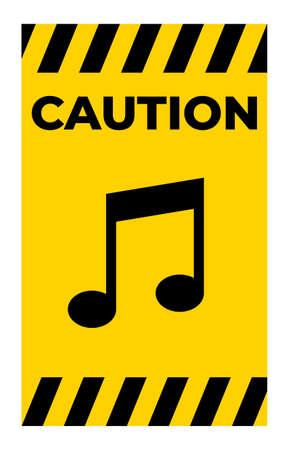No Music Sing Isolate On White Background,Vector Illustration Illusztráció