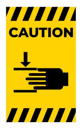 Crush hazard Mind your hands Sign Illusztráció