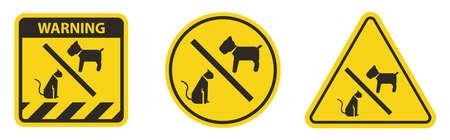 No Pet allowed Symbol On White Background Illusztráció