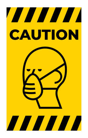 Protective mask icon on white background Illusztráció