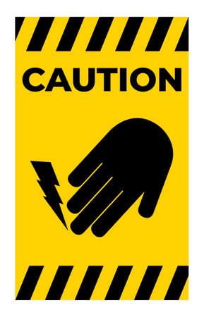 Do Not Touch Electrical Hazard Symbol Illusztráció