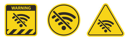 No Wifi Area Sing Isolate On White Background,Vector Illustration