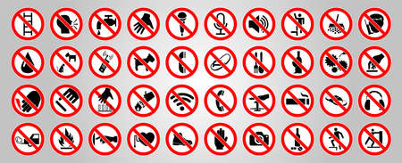 Cycle red prohibition sign on a white background