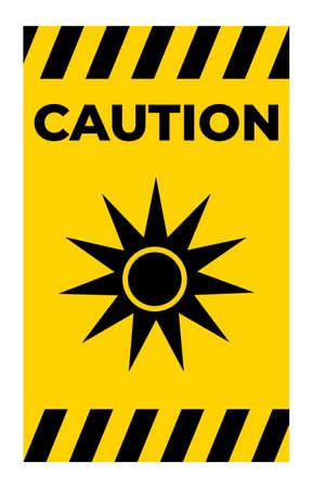 Beware Optical Radiation Symbol Isolate On White Background,Vector Illustration