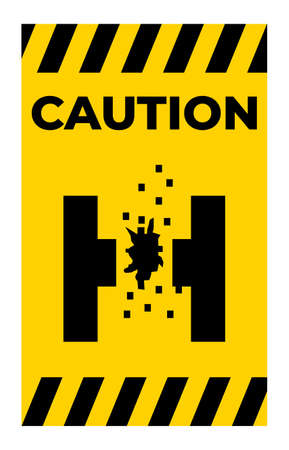 Danger Of Molten Metal Symbol Sign Isolate On White Background,Vector Illustration