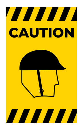 Symbol Wear Head Protection Sign Isolate On White Background,Vector Illustration