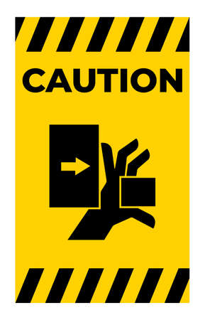 Hand Crush Force From Left Symbol Sign Isolate on White Background,Vector Illustration Illusztráció
