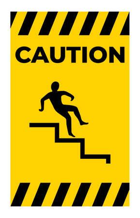 Beware Step Symbol Isolate On White Background,Vector Illustration