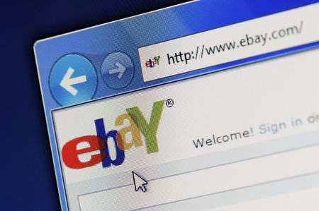 online auction: Münster, Germany - March 1, 2011: Part of ebay site in Internet Explorer browser on LCD screen. The US-based eBay Inc. operates the worlds largest Internet auction house. The company was September founded in 1995. Editorial