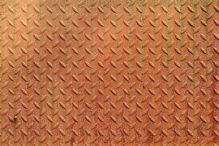 texture of a grunge metal diamond plate. photo
