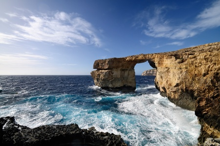 The famous Azure Window in Dwejra, Gozo, Malta.