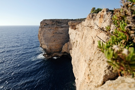 steep cliff: The amazing cliffs of Malta