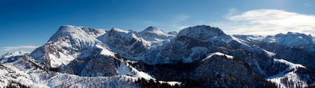 viewpoints: This image shot from the mountain Jenner. Stitch from several images, Bavarian Alps, Germany.