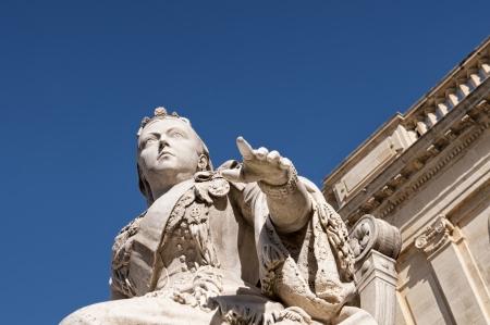 Statue of Queen Victoria in Republic Square, also known as Queen&acirc Square in Valletta, Malta  Stock Photo - 13830976