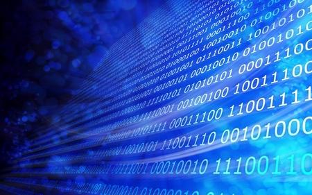 data stream: Binary code background