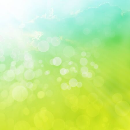 sun lit: Spring or summer abstract background with bokeh lights