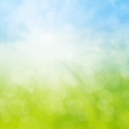 Spring or summer abstract background with bokeh lights