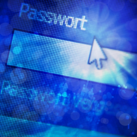 Abstract background - Security concept  Login form on digital screen  photo