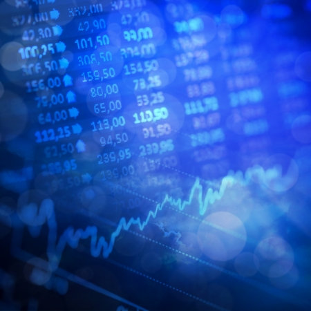 Abstract background - stock exchange graph background  photo